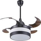 High frequency home appliance modern LED ceiling fan with light