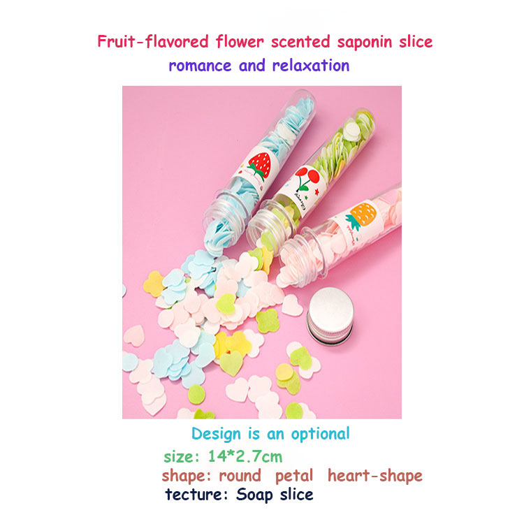 Mini Travel Out Disposable Portable Scented Hand Tube Paper Soap