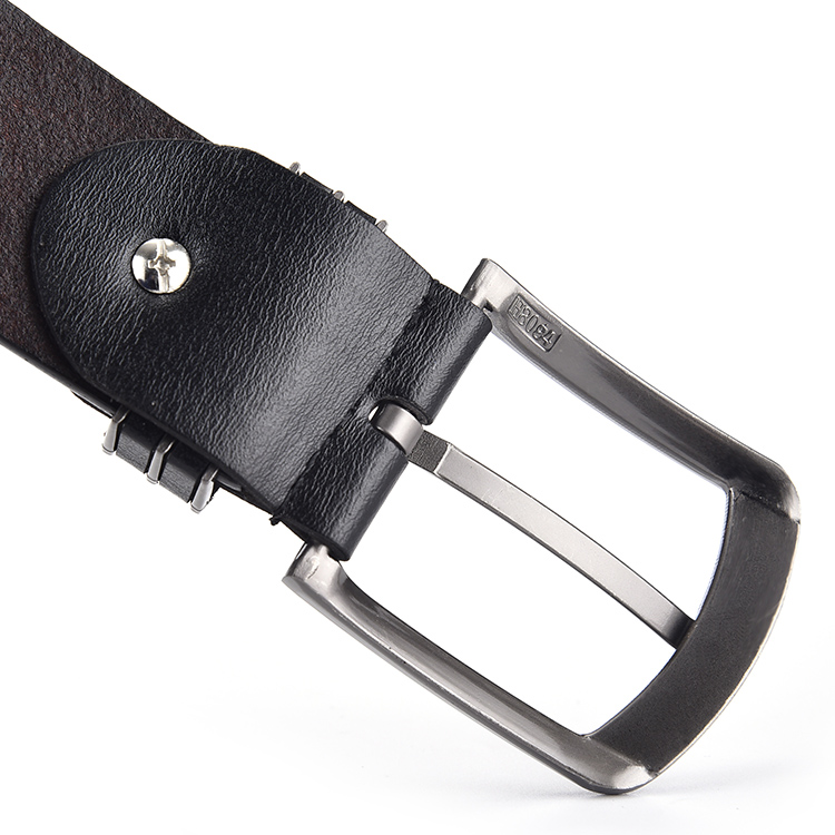 New style handmade PU leather metal stainless men and women belt