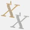 X - 18k gold or rhodium
