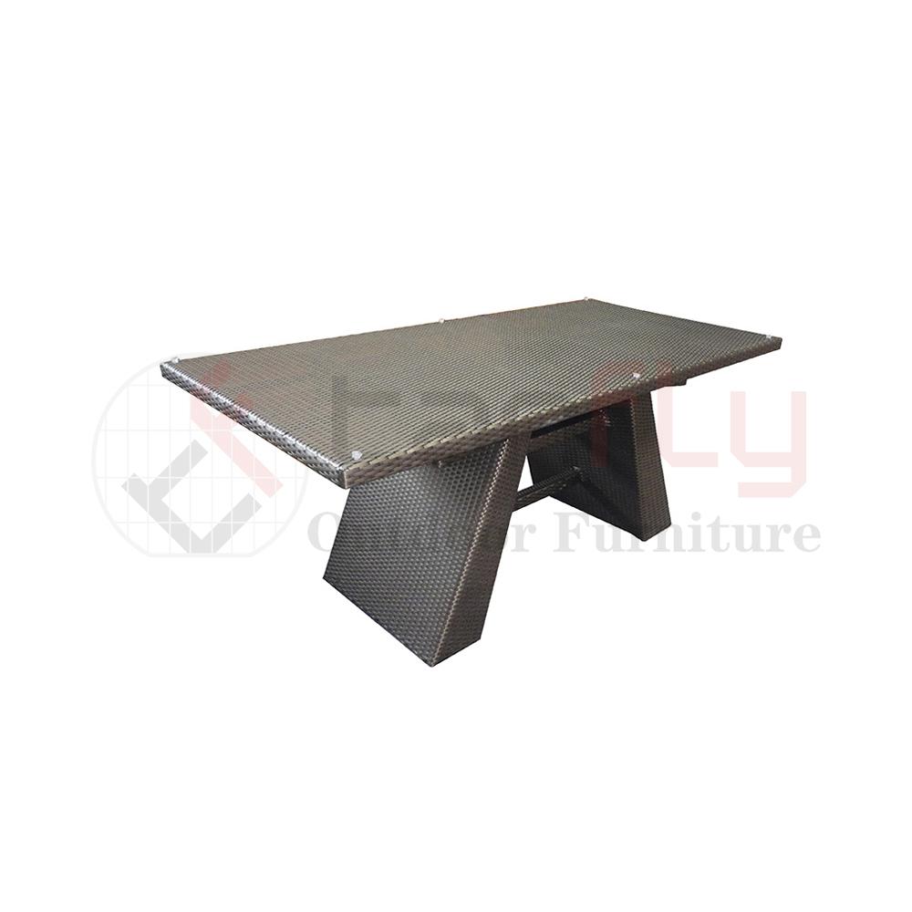 Уличная мебель из ротанга для любой погоды, 6 сидений, обеденный стол, мебель для столовой