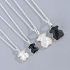 Silver small bear(black agate)