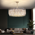 Crystal Pendant Chandeliers And Pendants Lighting Simple Modern LED Crystal Chandelier Restaurant Pendant Lights For Living Room