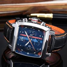 Топовые брендовые Роскошные мужские часы Monaco 24, автоматические часы tonneau с турбийоном, деловые механические часы из нержавеющей стали(Китай)