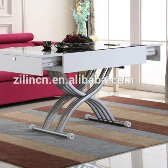 Modern Coffee Table Double Lift Top Coffee Table Living Room Furniture Type And Living Room Coffee Table Specific Use View Glass Lift Up Coffee Table Coffee Table Product Details From Shenzhen Zilin Industrial