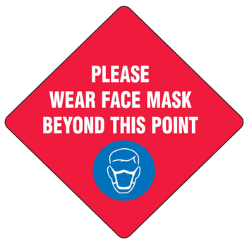 Wholesale High Quality Wall Sticker Wear A FaceMask Sign for Public Place