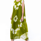 Hot Sale Classic Floral Green Dress Factory Wholesale Dress New Fashion Trend Dress