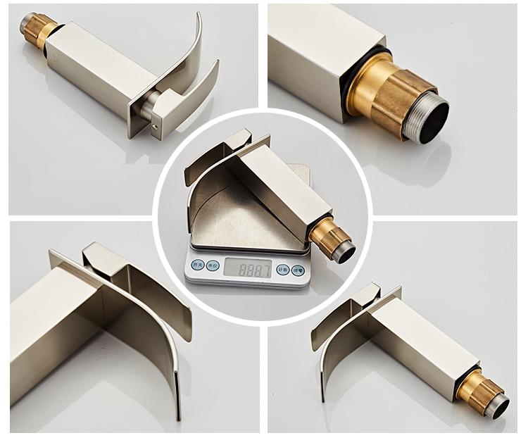 2020 new design garden water tap glass basin taps gold bathroom taps