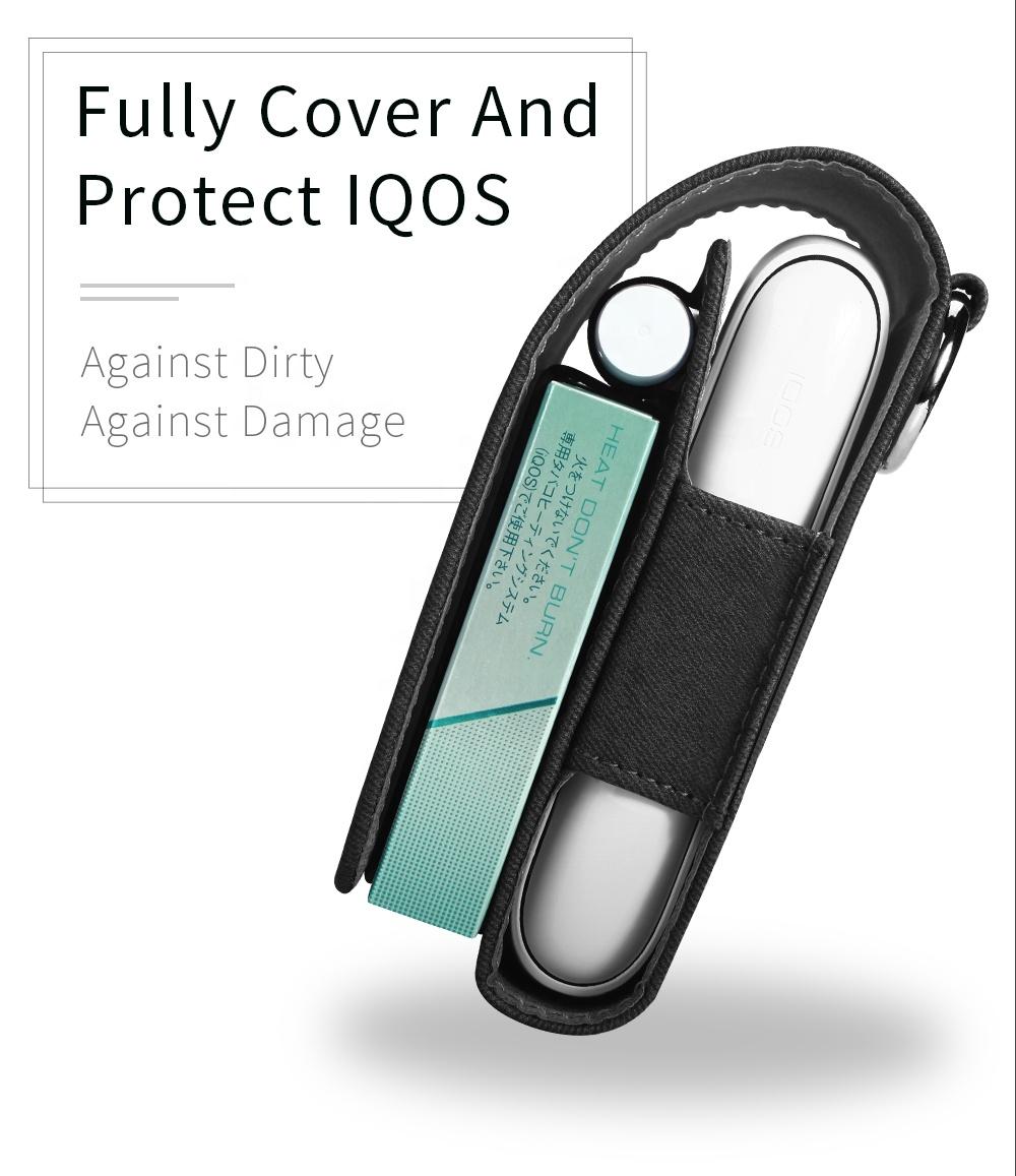 Прямая поставка, футляр для электронной сигареты с полной защитой, футляр для карт, чехол из искусственной кожи, сумка для iQOS 2,4 3,0 duo, мульти-стик для очистки