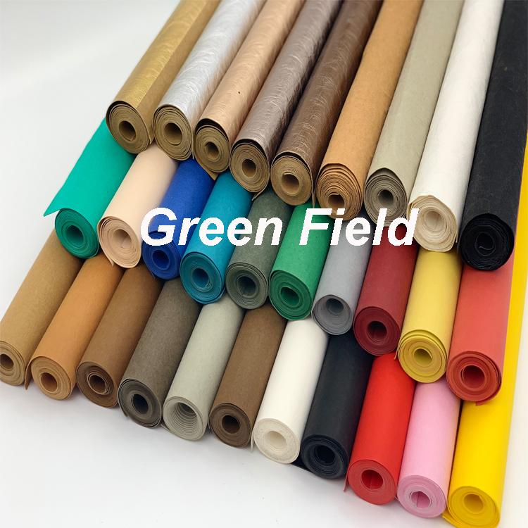 Зеленое Поле пользовательский DIY Моющийся крафт кожаный бумажный мешок для гольфа