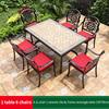 9-6 JL chair 1 ceramic tile AL frame table 150*90cm