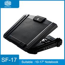 Cooler Master SF-17, охлаждающая подставка для ноутбука 10-17 дюймов, вентилятор 18 см, 4 usb-порта, скользящая подставка, охлаждающий вентилятор, светодио...(Китай)