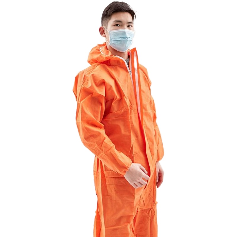High Quality Protection Safety Clothing Hooded Disposable SMS Coverall - KingCare | KingCare.net