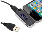 New Fashionable LCD Car FM Transmitter w/ 3.5mm Plug for iPhone/ iPad/ iPod Smart Phones MP3 Player