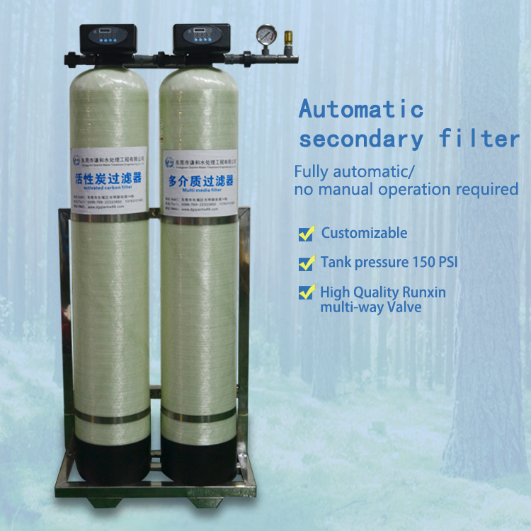 Automatic secondary filtration water processors for domestic plants industrial water filters water purifiers water softeners
