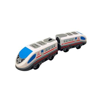 Electric Train Magnetic Track Hape Steam-Era Freight Train Classic Children's Locomotive Toy For Thomas BRIO Wooden Track