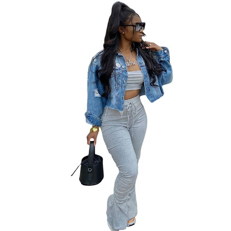 2021 Summer New Fashion Adjustable Strap Solid Top And Stack Pants 2 Piece Set Outfits Women Two Pieces Clothes Women Sexy