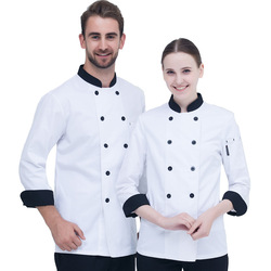 Хлопковая униформа для ресторана, шеф-повара, Классическая дизайнерская Униформа с длинным рукавом для бара