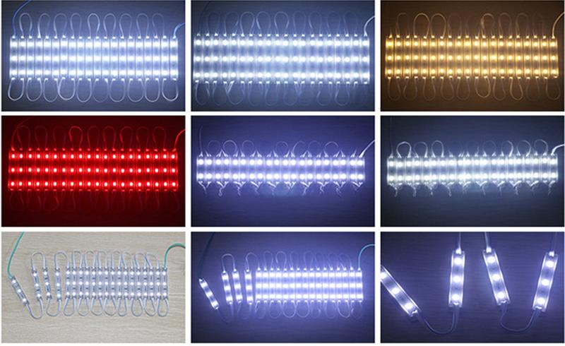 3 LEDs DC12V Waterproof Advertisement Design 0.72W LED Modules Lighting 5730 smd Led Module