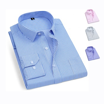 Custom Polyester Cotton Long Sleeve High Quality printing Casual dress shirt for men's shirts