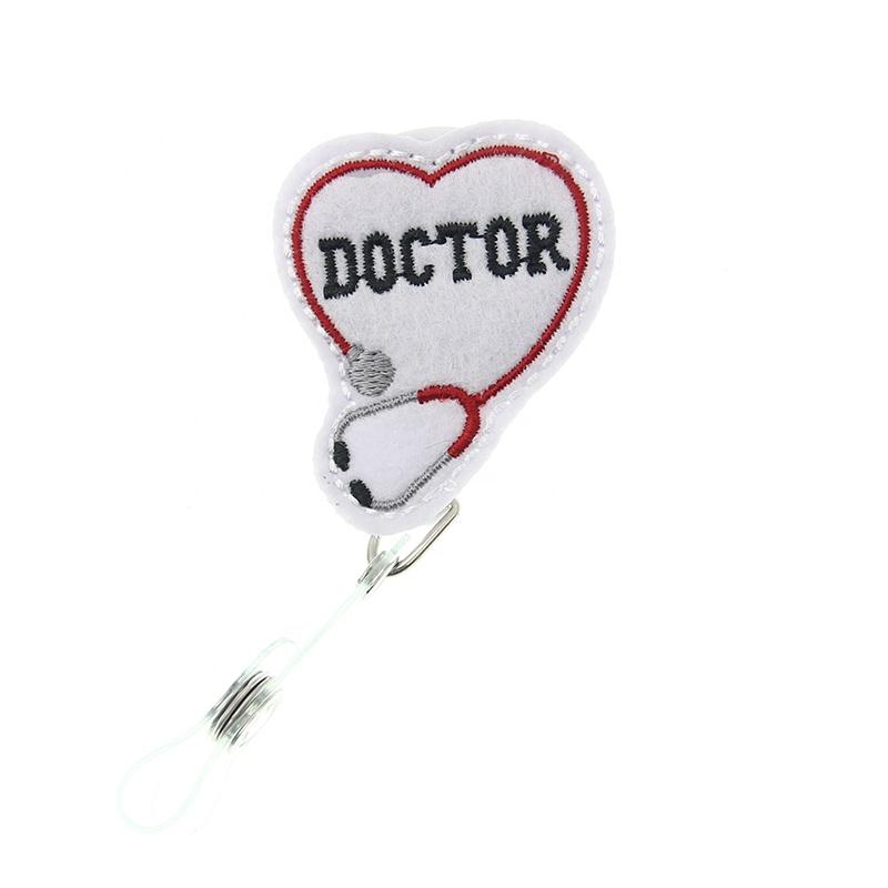 Войлочный врач медицинская Выдвижная медсестра для больницы бейдж держатель