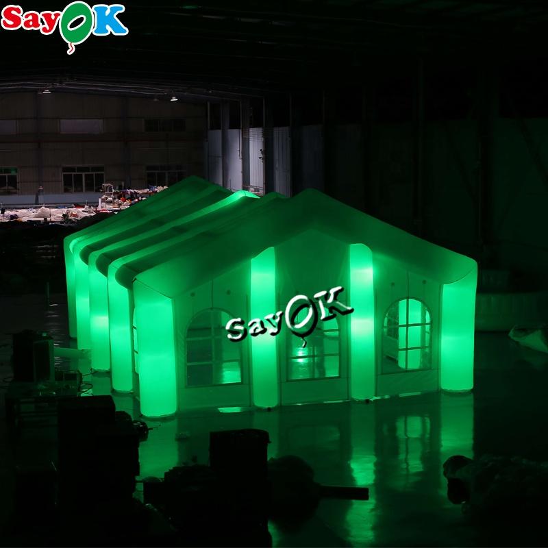 Надувная палатка со светодиодной подсветкой для наружной рекламы, вечеринки, мероприятия, свадьбы