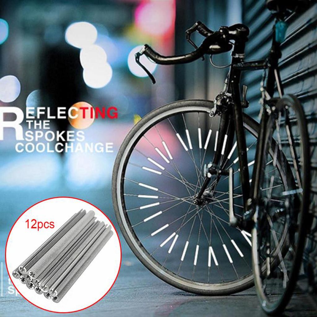 Bicycle Wheel Rim Spoke Light Clip Tube Warning Strip Bright Rim Reflective