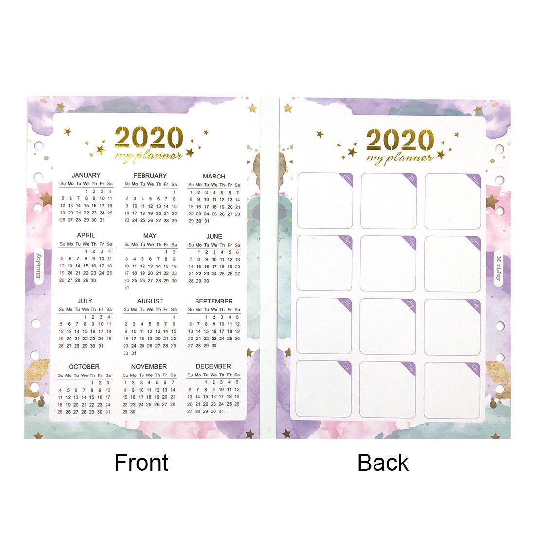 Fromthenon, 2020 год, календарь, Биндер, спиральный блокнот, индексный разделитель A5A6, ежедневник, ежедневник, Ежемесячный план, органайзер, канцеля...(Китай)