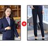Women royalblue suits(blazer+pants)