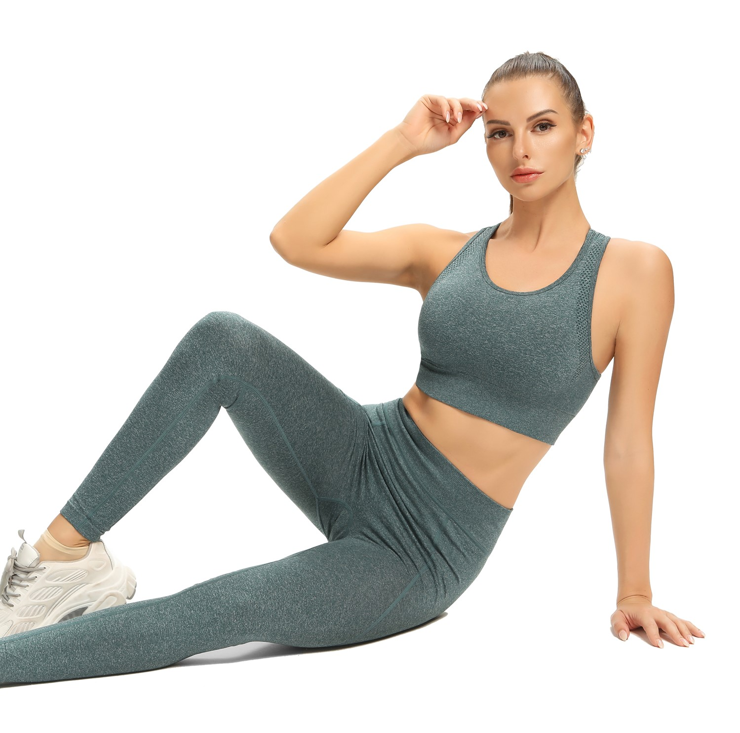 Hot Sale Competitive Price Spandex Ice Skating Tight Custom Design Yoga Set