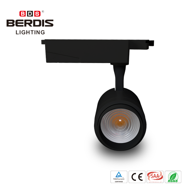 European style reliable 270 degree spot head adjust fitting room show corner display window for cob led track light