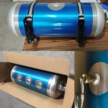 Truck and Trailer Air Brake System Aluminum Air Tank/Air Reservoir, 40L ,50L , diameter 280mm ,320mm , or as per clients drawing