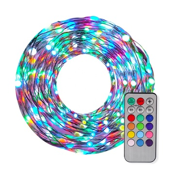 Cheap Programmable Christmas Decoration RGB Led Copper Fairy Light Copper Wire Led String Light With MOQ