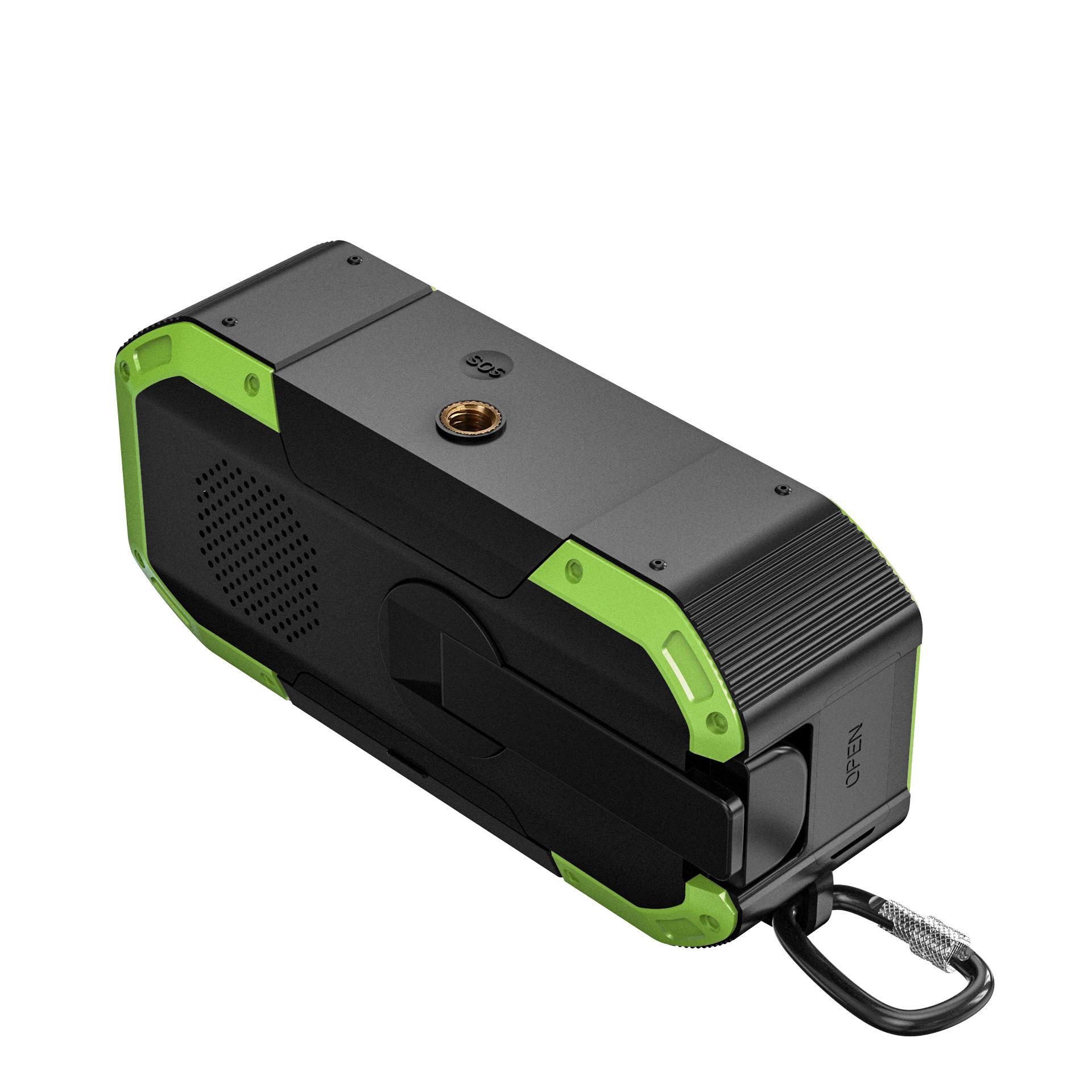 Portable 5000 mAh Power Bank Solar Crank AM/FM/NOAA Emergency 3 in 1 portable radio flashlight solar Radio with Reading Lamp