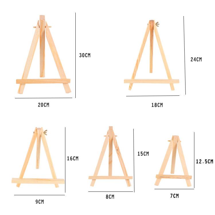 Треугольный мольберт и деревянный материал, мини-мольберт из холста для маленьких детей, деревянный мольберт для холста