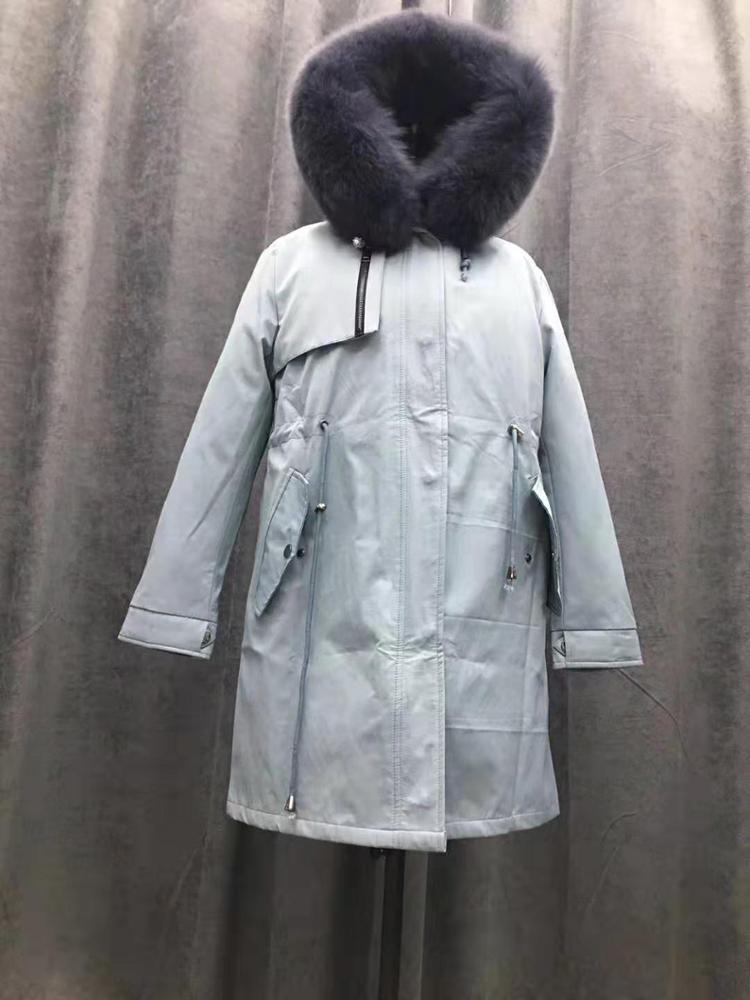 Top Selling Winter Warm Padded Fox Fur Hooded Jacket Mens Parka Jacket