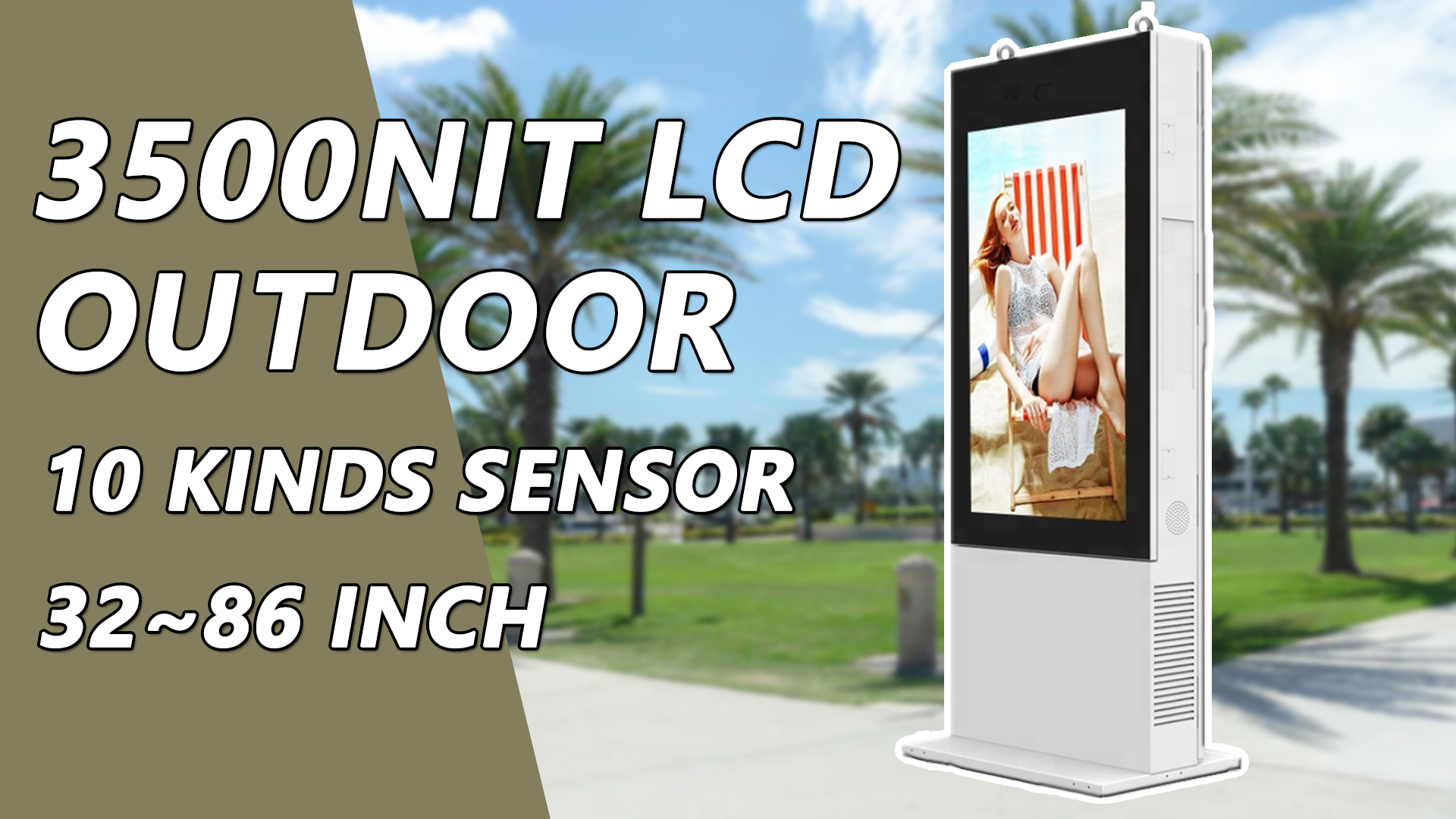 Waterproof tactile exterieur outdoor lcd display advertising screen android digital signage totem kiosk