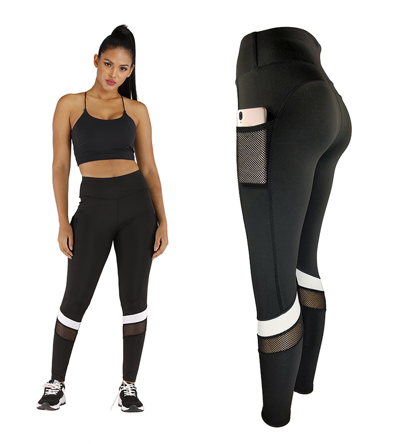 Womens High Waist Yoga Leggings with Pocket Gym Fitness Training Sport Pants JOG