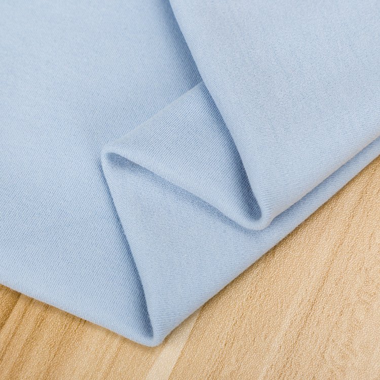 High Quality 95%cotton 5%spandex knitted cotton interlock with one side peached for children cloth with stretchy