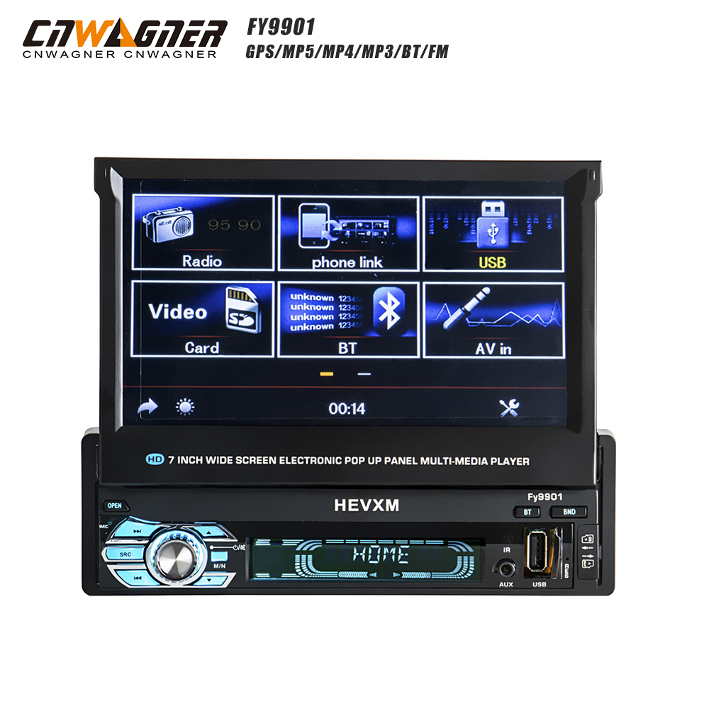 CNWAGNER 7-inch Car Audio and Video bluetooth Hands-free Car MP5 Player, Reverse Priority, Car Navigation GPS all-in-one 9901