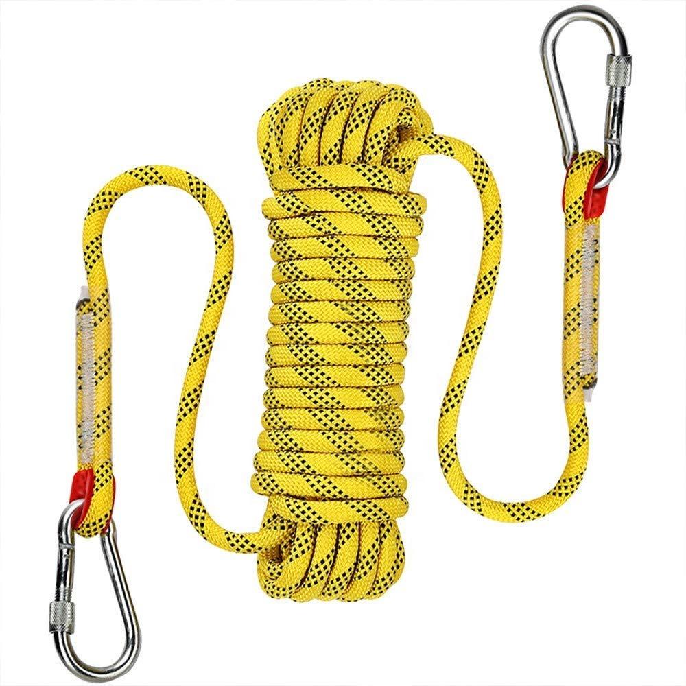 Открытый высокопрочный Скалолазание Веревка, статическая скалолазания веревка, спасательный канат с крючками