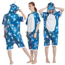 Новые зимние фланелевые женские пижамы кигуруми, Комбинезоны для взрослых, комбинезоны, женские пижамы, ночное белье, домашняя одежда, Комб...(Китай)