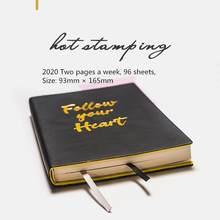2020 365 дней расписание Portableyearly ежедневник еженедельник Организатор Pu кожаный чехол бумажный блокнот Мини A6 повесток дня(Китай)