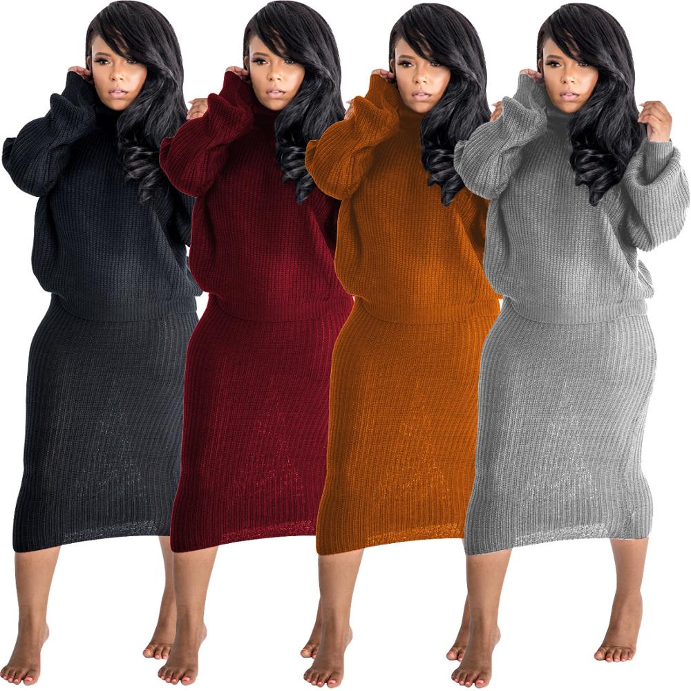 Femmes Tricoté Top Pull /& Jupe Mode deux pièces femme Co-Ord Set NEW BRAND