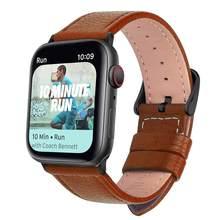Eastar, 3 цвета, хит продаж, кожаный ремешок для часов Apple Watch Series 5/3/2/1, спортивный браслет 42 мм 38 мм, ремешок для iwatch 4(Китай)