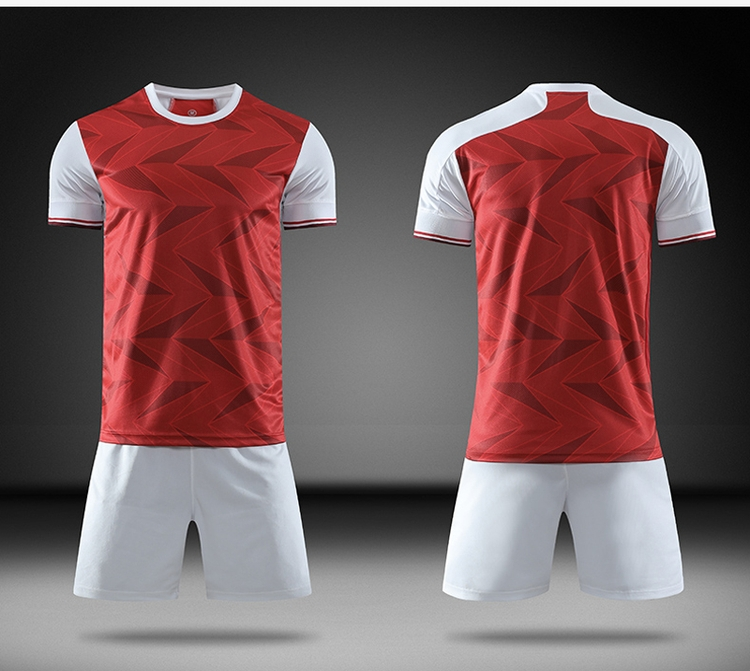 Professional production red jersey football shirt new soccer jerseys for adult