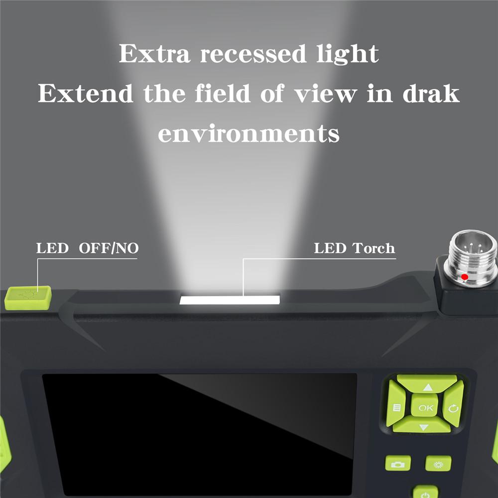 Водонепроницаемый цифровой бороскоп P30, 8 мм, HD 1080P, промышленный эндоскоп 4,3 дюйма, HD ЖК-камера, видеокамера для осмотра