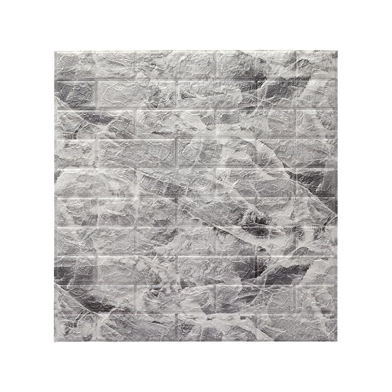 onekin 3D  PE moisture proof mould proof anti static sound proof   decoration brick wallpaper