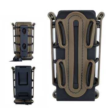 4 Color Fast mag Molle Pouch Molle Pistol Mag Military 9mm Magazine Pouch Holster With Belt Clip Soft Shell Mag Pouch