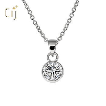 CIJ wholesale price fashionable classic party gift for girls women CZ 925 sterling silver stud pendants